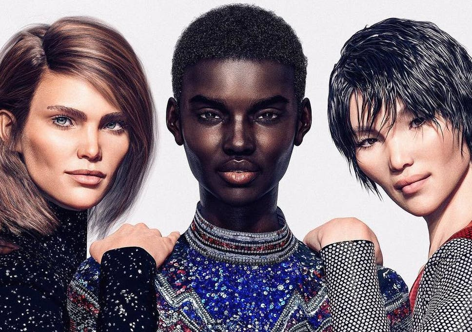 5b2363a6c02 Balmain reveals line-up of virtual models for latest campaign   The ...