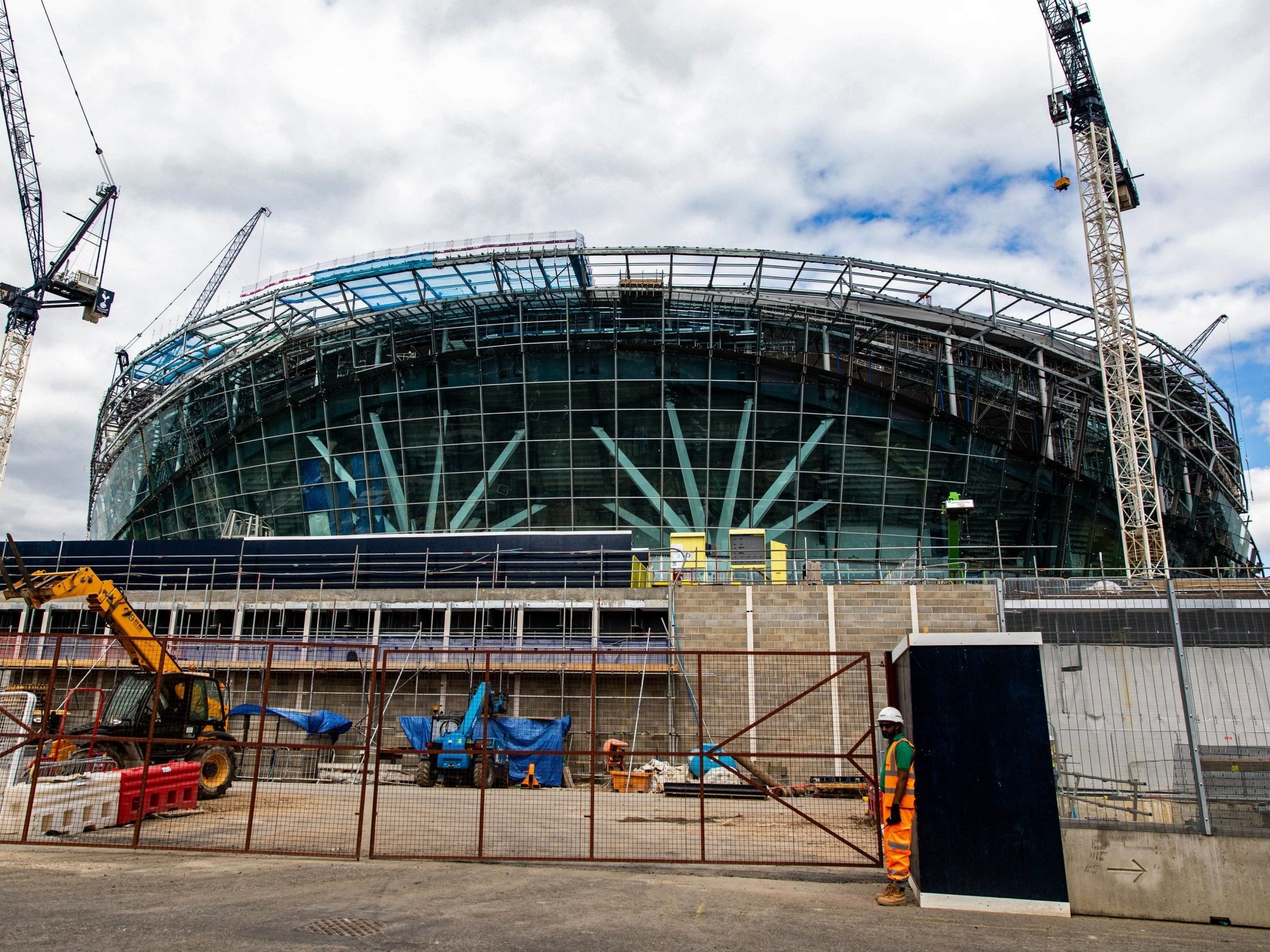 New Tottenham Stadium Spurs Move Manchester City Game To Wembley As Work Continues The Independent The Independent