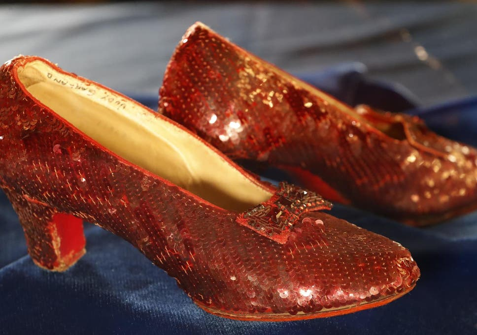 e2bdf298ff6 Stolen ruby slippers from Wizard of Oz found by FBI after 13 years ...