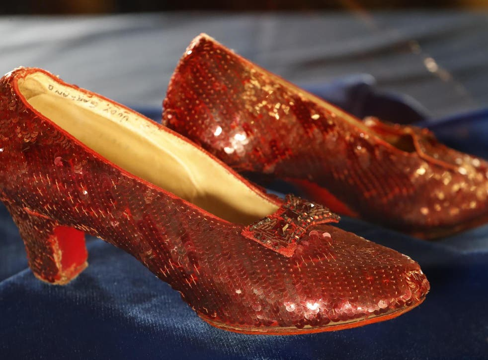 The sequin shoes were taken from the Judy Garland Museum back in 20005