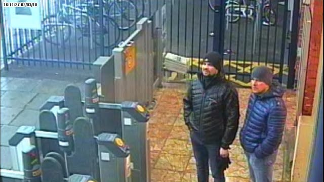 The two suspects charged in relation to the attack on Sergei and Yulia Skripal at Salisbury train station at 16:11hrs on 03 March 2018