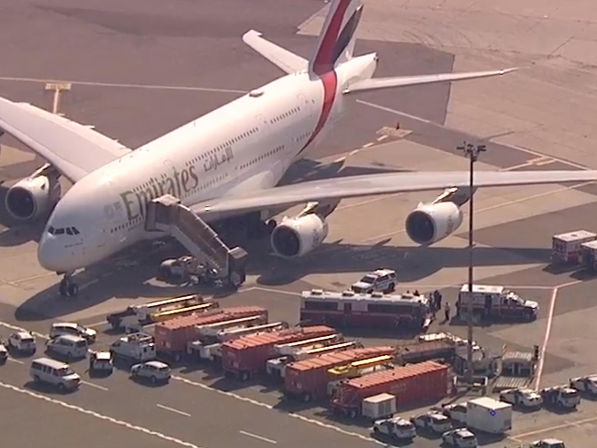 d068d6a917 JFK airport  Passengers on quarantined Emirates flight from Dubai had flu