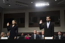 Facebook and Twitter executives grilled in hearings before US Congress