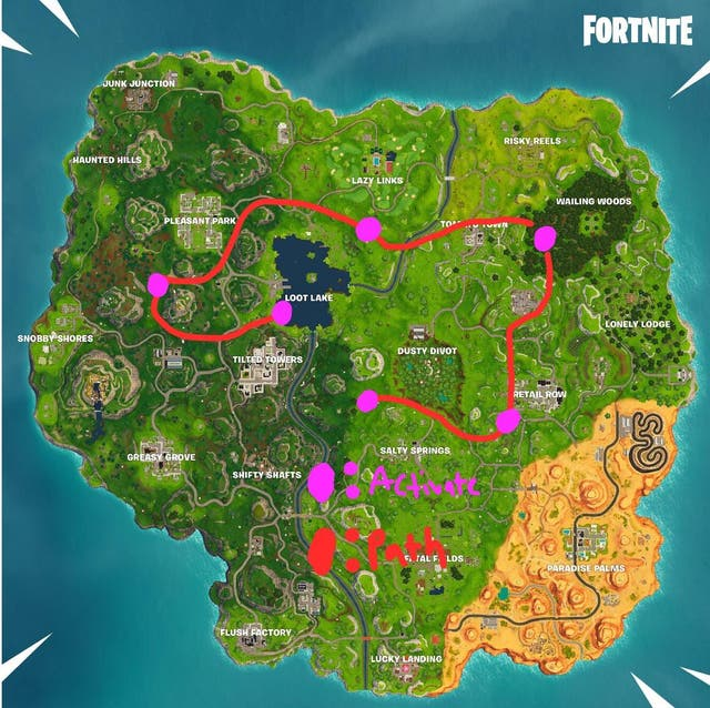 Purple Square Fortnite Cube Mystery Of Giant Purple Cube In Fortnite Battle Royale Solved By Redditor The Independent The Independent