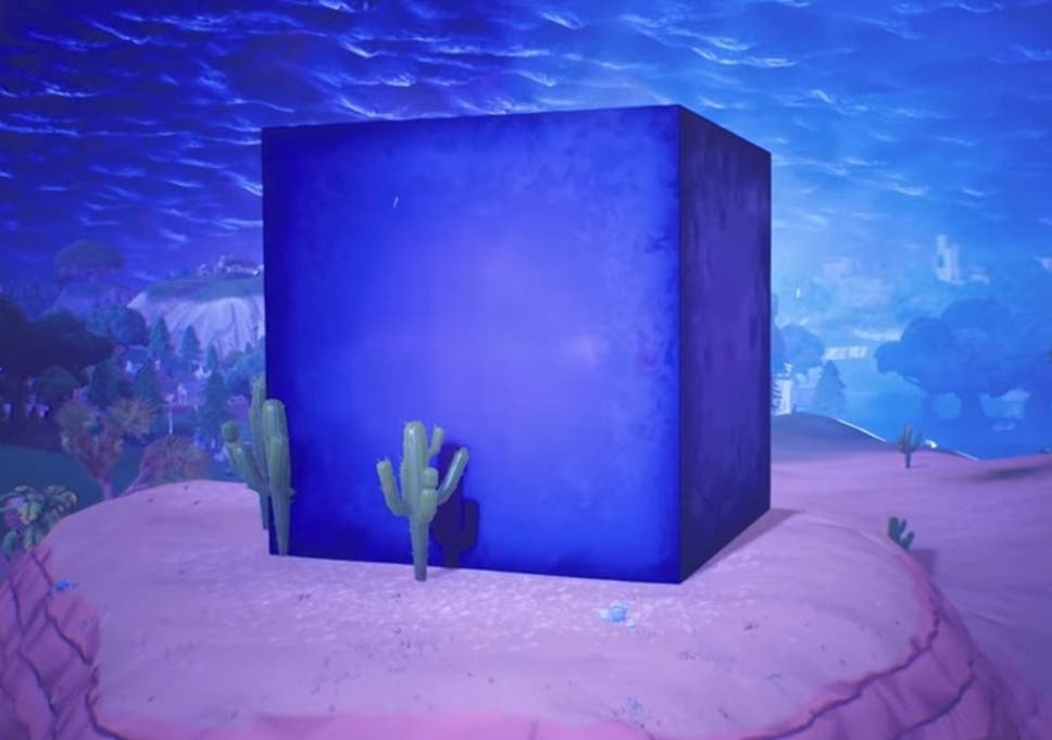 Mystery Of Giant Purple Cube In Fortnite Battle Royale Solved By