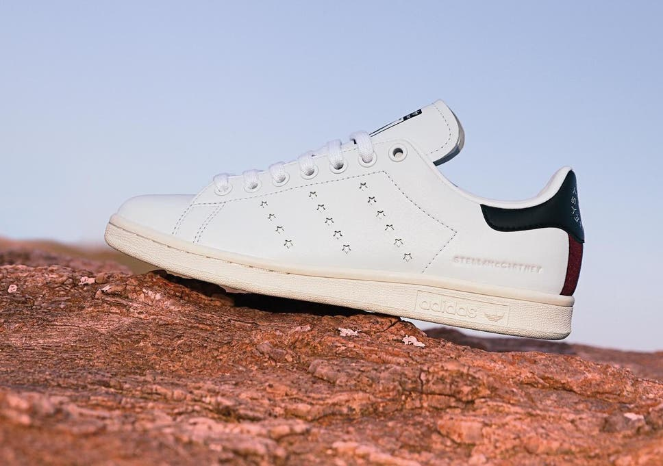 pretty nice b9bf5 8e720 Stella McCartney and Adidas launch world s first vegan Stan Smith trainers