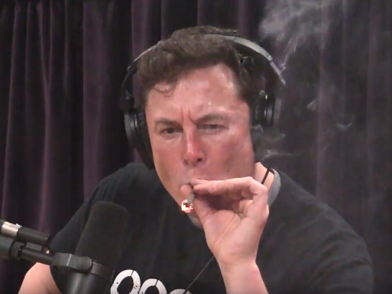 Elon Musk smokes cannabis during interview with Joe Rogan, before