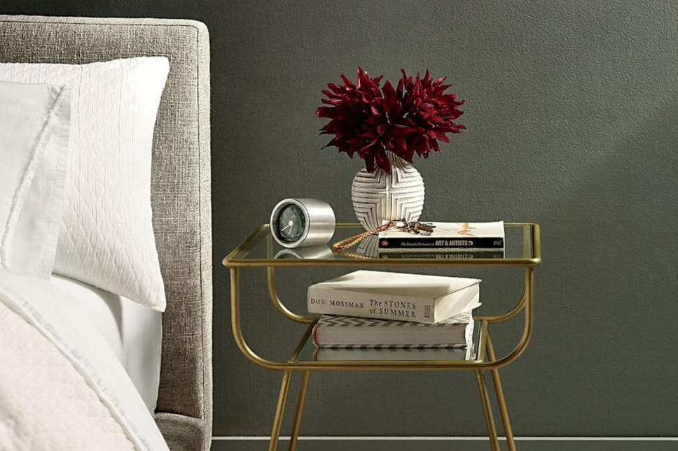 10 best bedside tables the independent west elms antique brass finish makes it a good match for all types of dcor keyboard keysfo Images