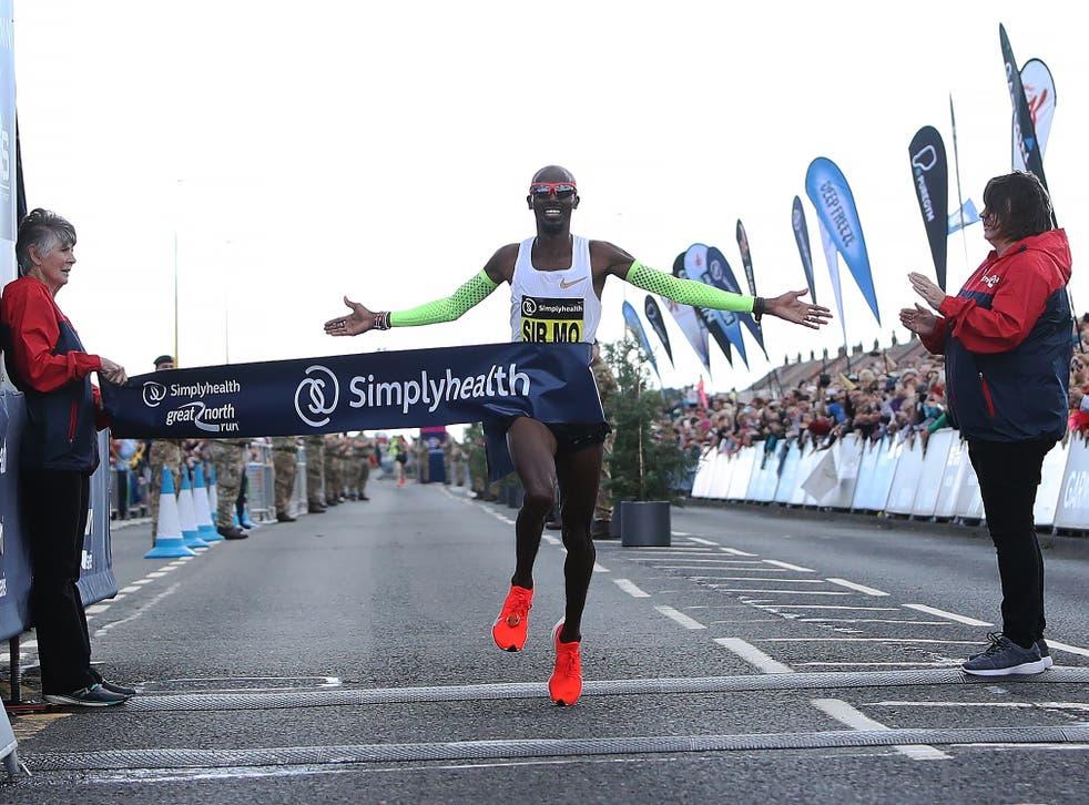 Farah won a reacord-breaking fifth consecutive Great North Run