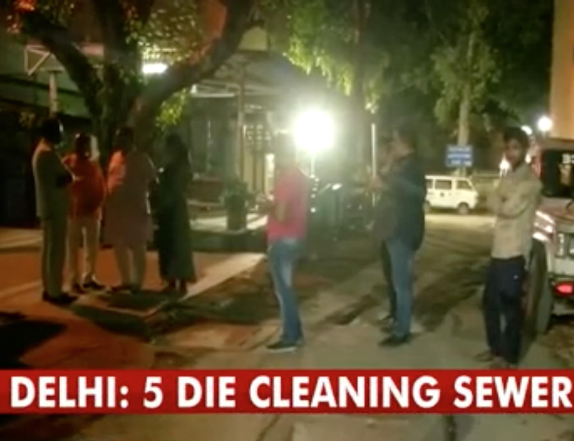 Five men die from toxic fumes while cleaning septic tank at luxury Delhi apartment block