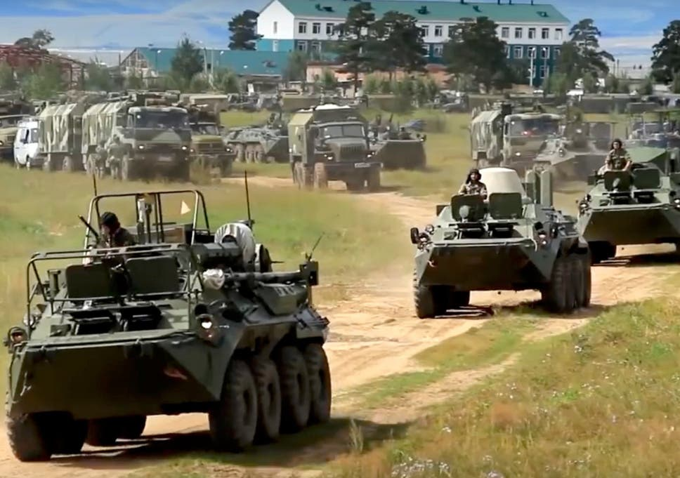 russia launches biggest war games since cold war with more than