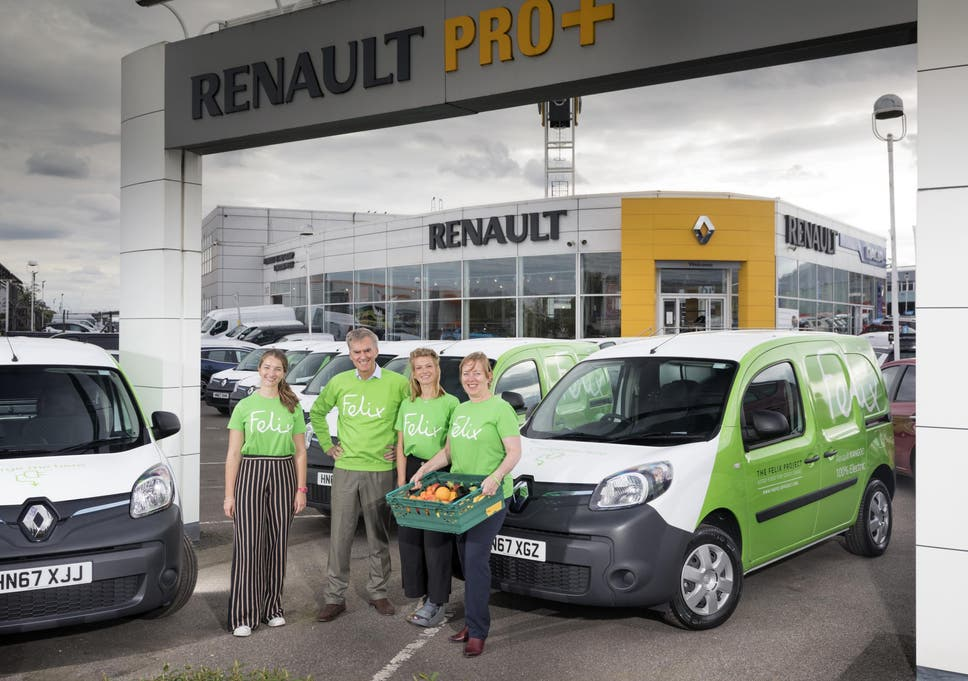 adfa706126 The Felix Project uses donated Renault electric vans to deliver fresh but  discarded produce to charities
