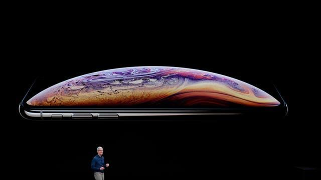 Tim Cook, PDG d'Apple, parle de l'iPhone XS et XS Max lors d'un événement de lancement de produit Apple Inc