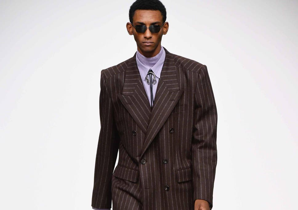 The classic pinstripe suit is making a comeback