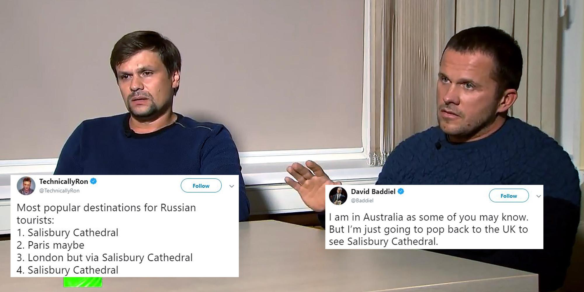 The Russian Suspects Who Visited Salisbury Cathedral Are Being Mercilessly