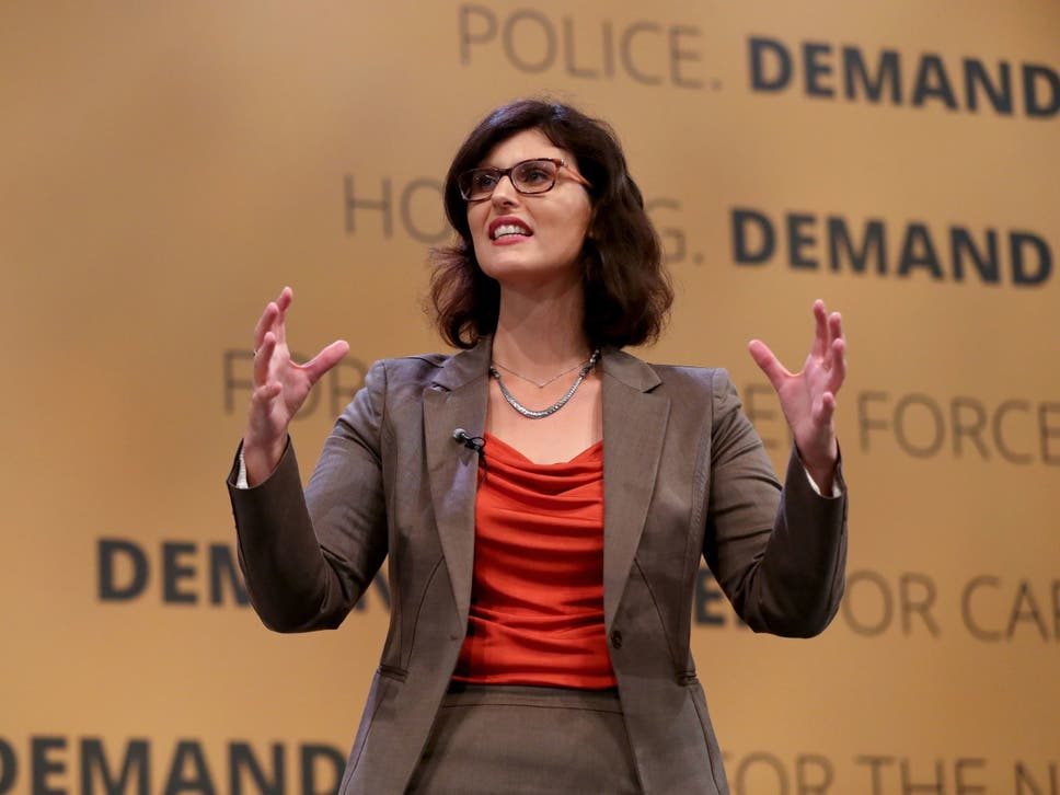 Layla Moran, Liberal Democrats education spokesperson, delivers a speech at the party's Autumn Conference in Brighton