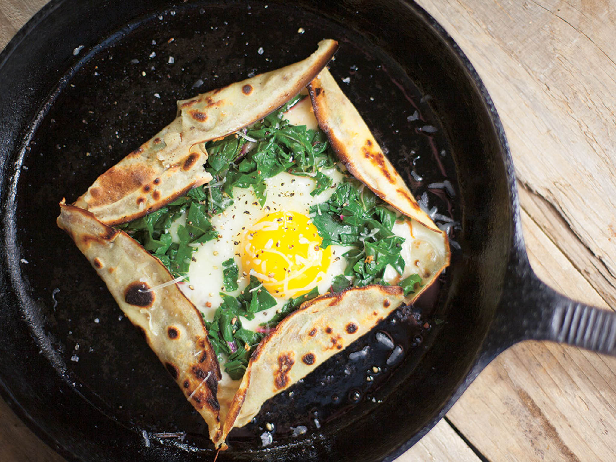 How to make galettes with chard and gruyère 1