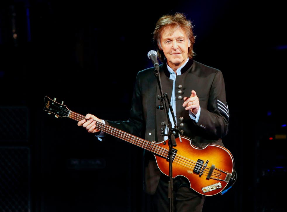 Paul McCartney performs during his One On One tour in Illinois, US