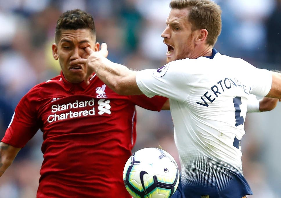 984162f209 Roberto Firmino suffered an eye injury in Liverpool s victory over Tottenham  Hotspur