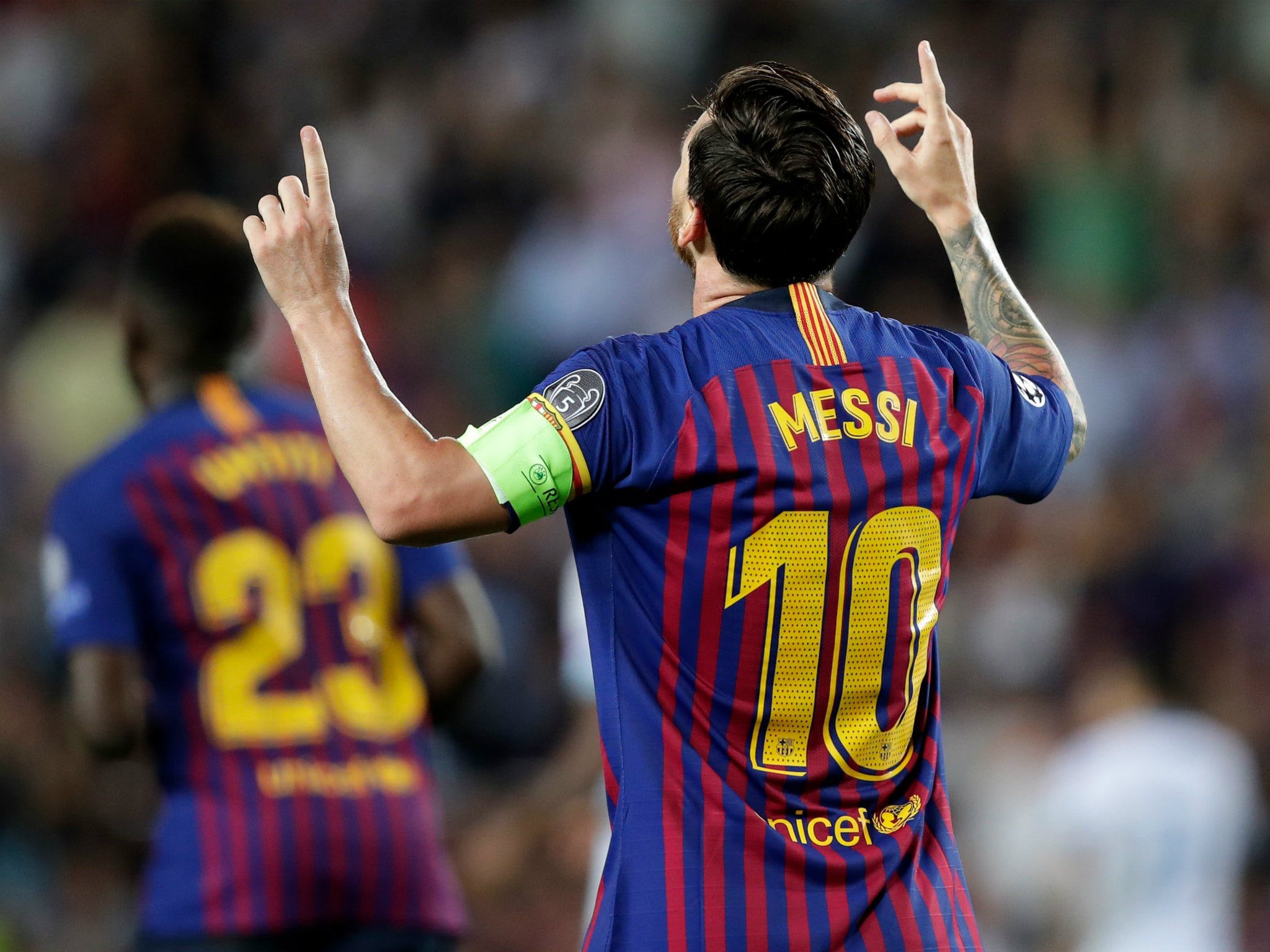 f8202984e Champions League roundup  Lionel Messi scores hat-trick in Barcelona ...