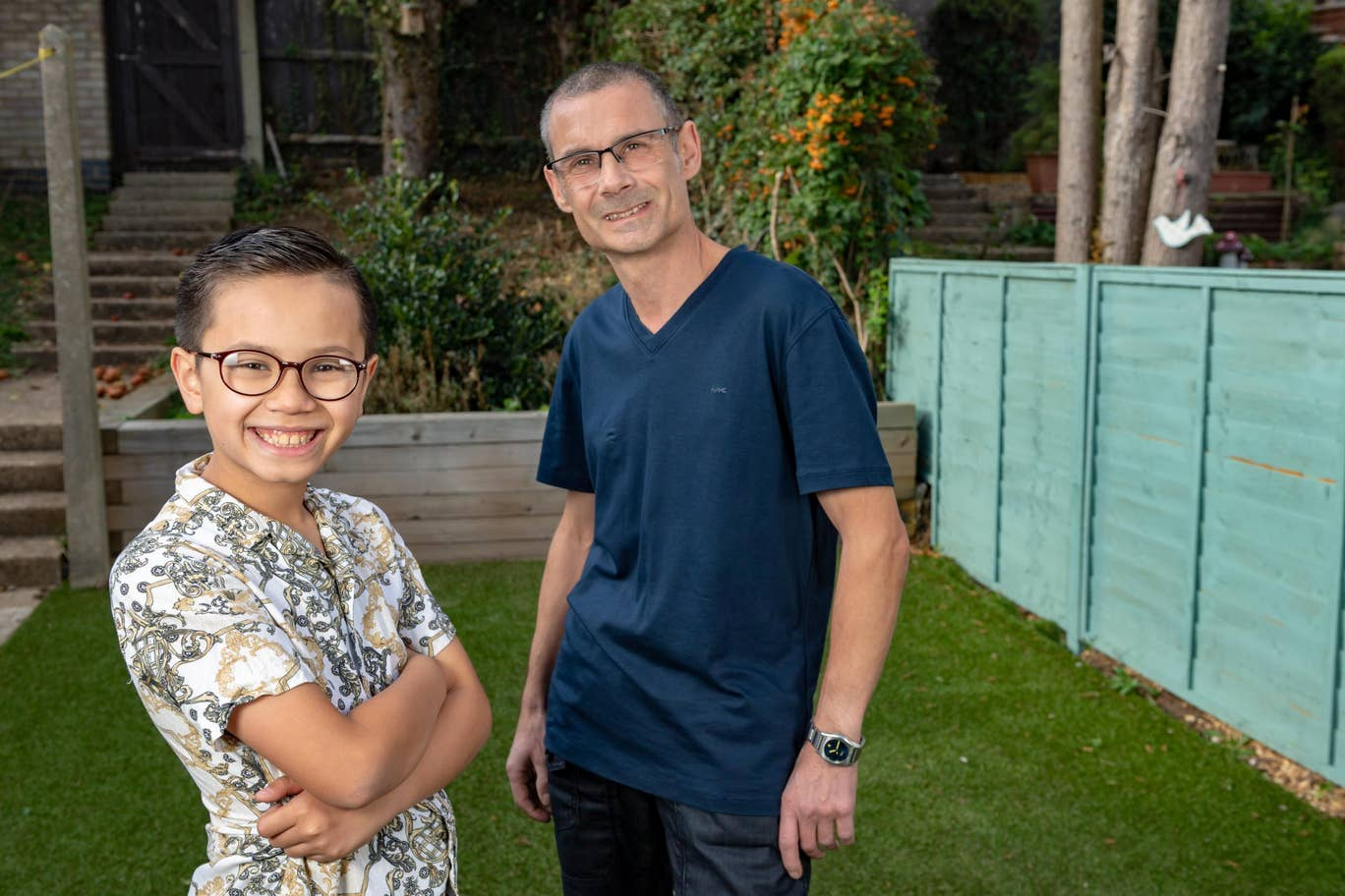 Alfie dan ayahnya, Gary.