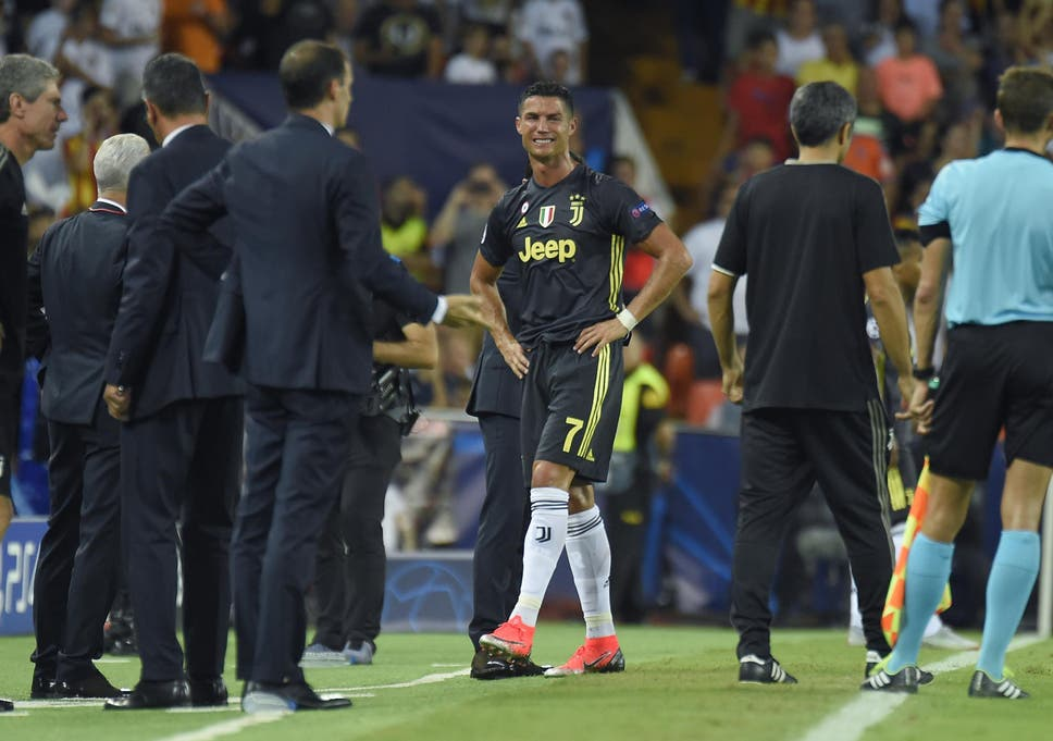 8cf44b8bb50 Cristiano Ronaldo sent off on for Juventus in Champions League clash ...