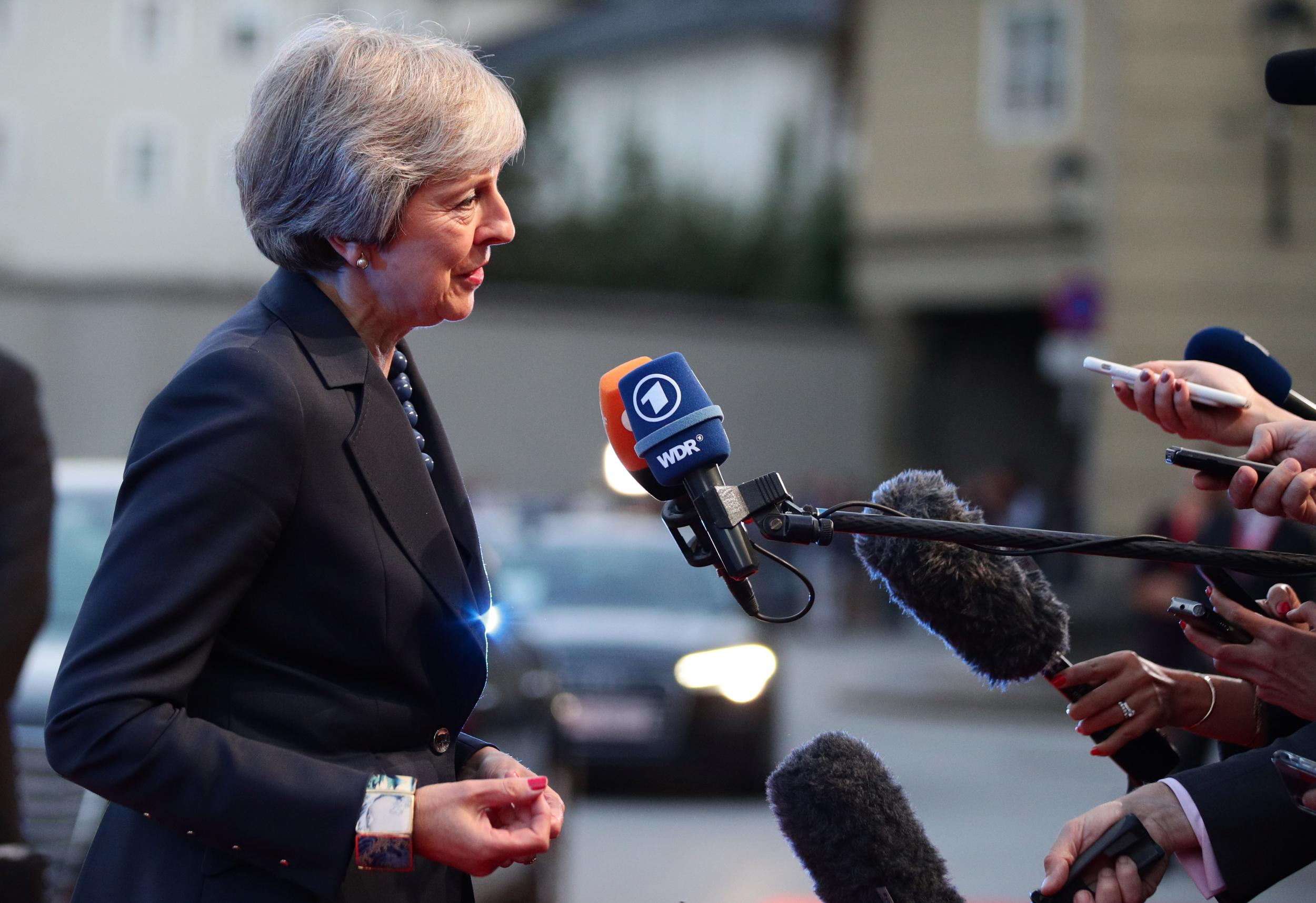 Theresa May perchance well moreover to accept exams between Northern Eire and Colossal Britain in main concession to avoid Brexit no-deal thumbnail