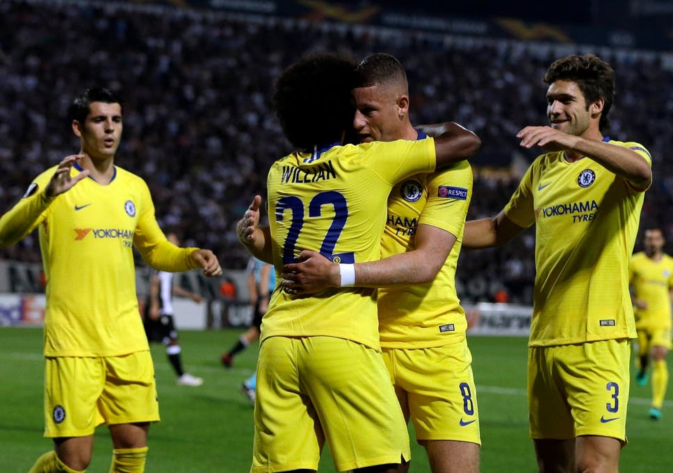 Paok Vs Chelsea Willian And Pedro Lead The Way As Maurizio Sarri Opts For Strength In Europa League