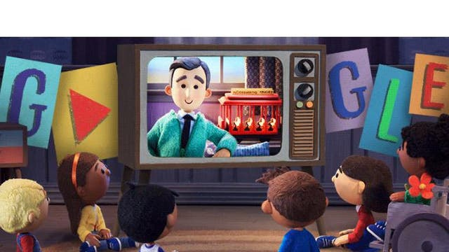 Google Doodle celebrating children's TV presenter Mister Rogers