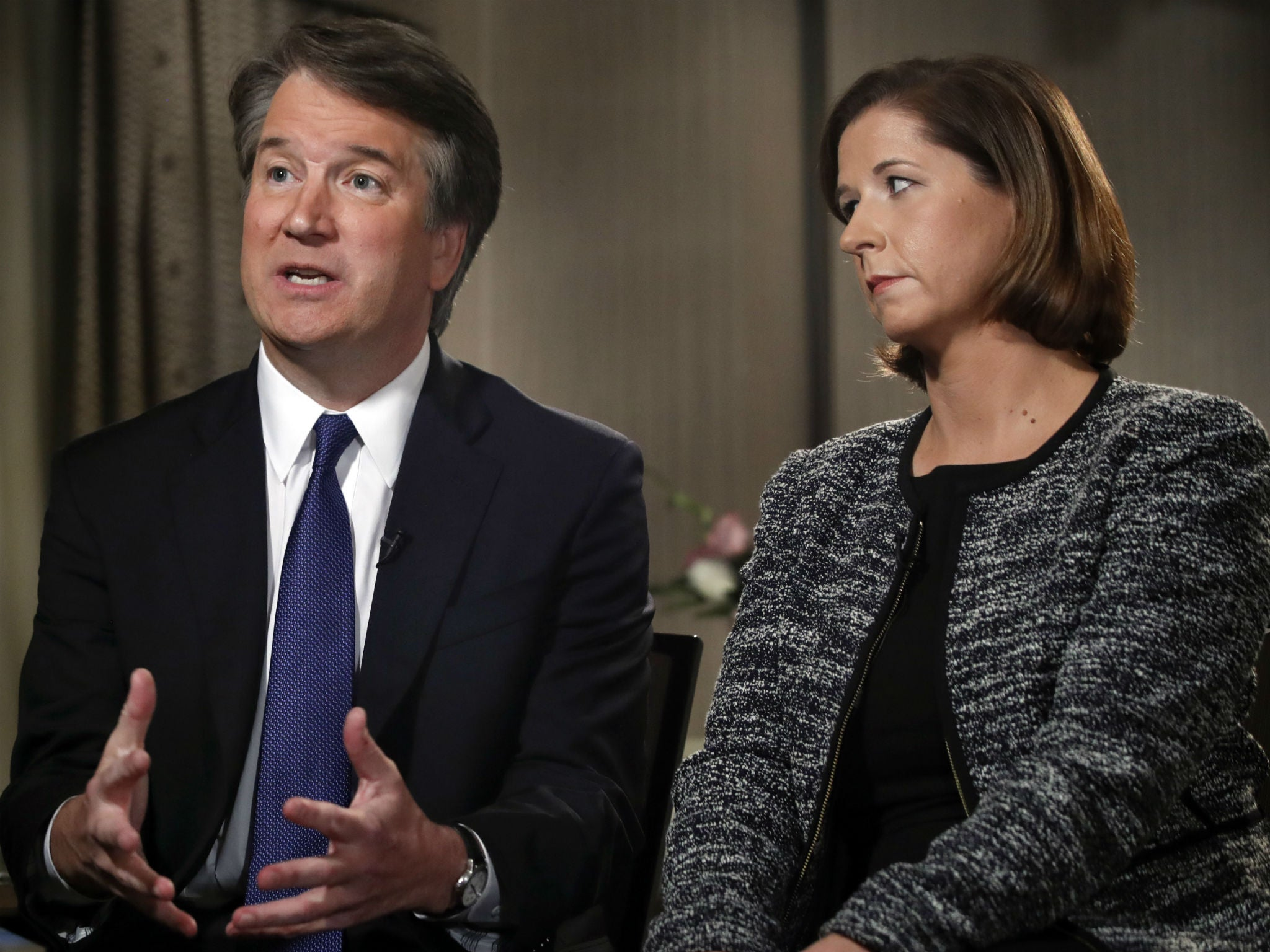 Brett Kavanaugh sitting beside wife Ashley tells Fox News: 'I'm not going anywhere' over sexual misconduct allegations