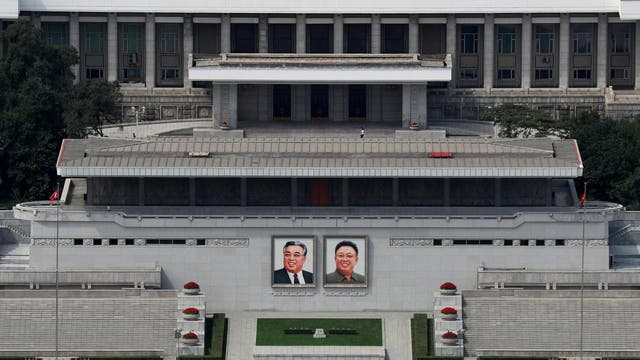 In the Democratic People's Republic of North Korea, portraits of former supreme leaders Kim Il Sung and Kim Jong Il are required by law to be hung in the home, the classroom, the factory and all manner of other private and public places