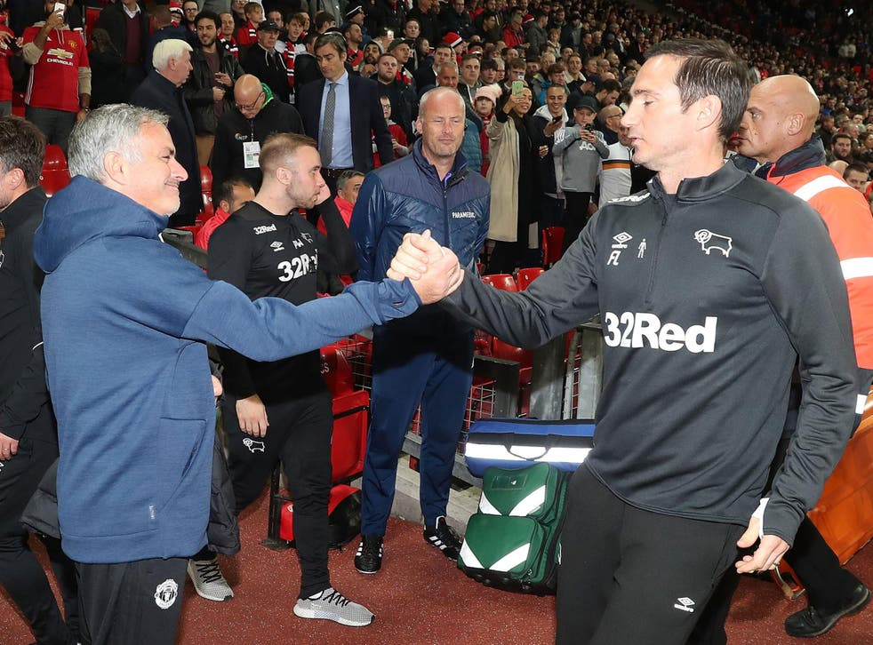 Frank Lampard and Jose Mourinho met on opposite sides of the technical area for the first time