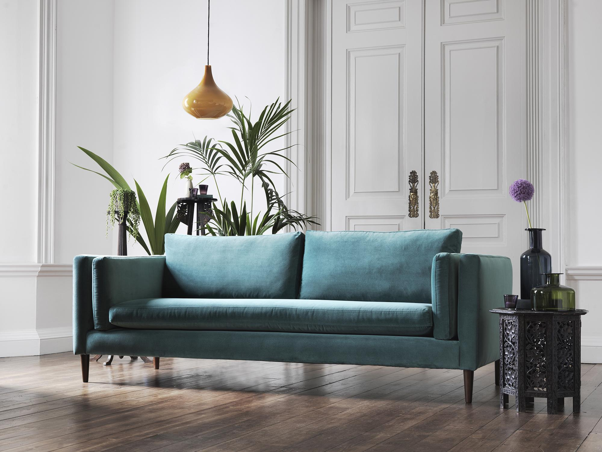 Petrol Blue Sofa Living Room Caseconrad Com