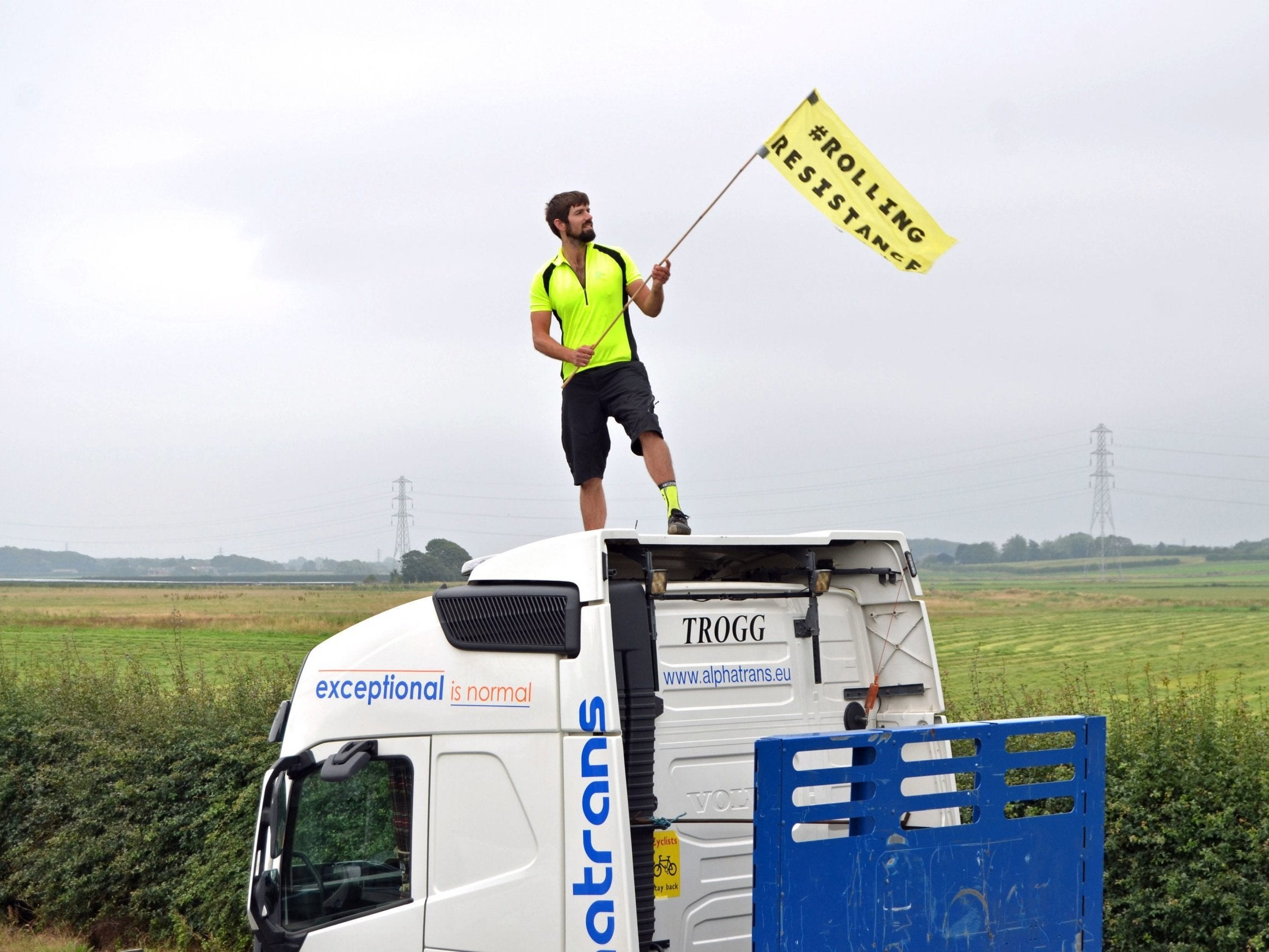 Image result for cuadrilla activists jailed for lorry protest