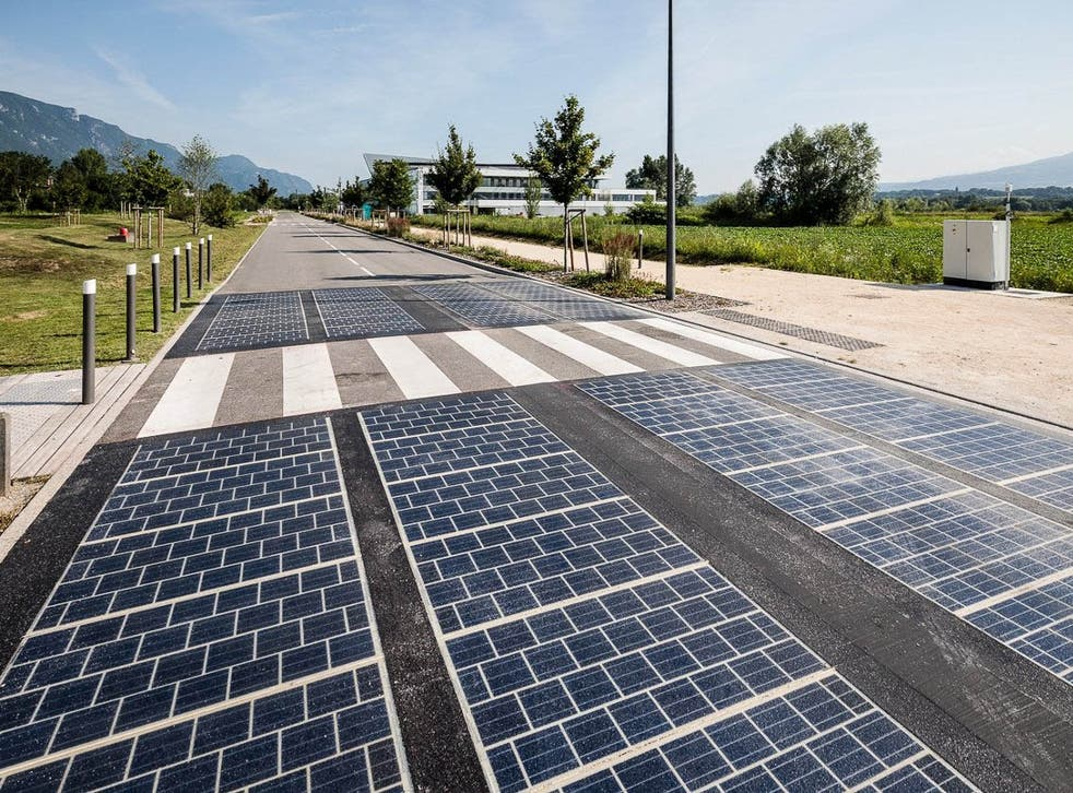 Solar panels on roads are more prone to shading