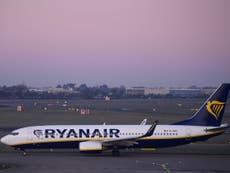 Police arrest man who chased missed Ryanair flight shouting 'wait'