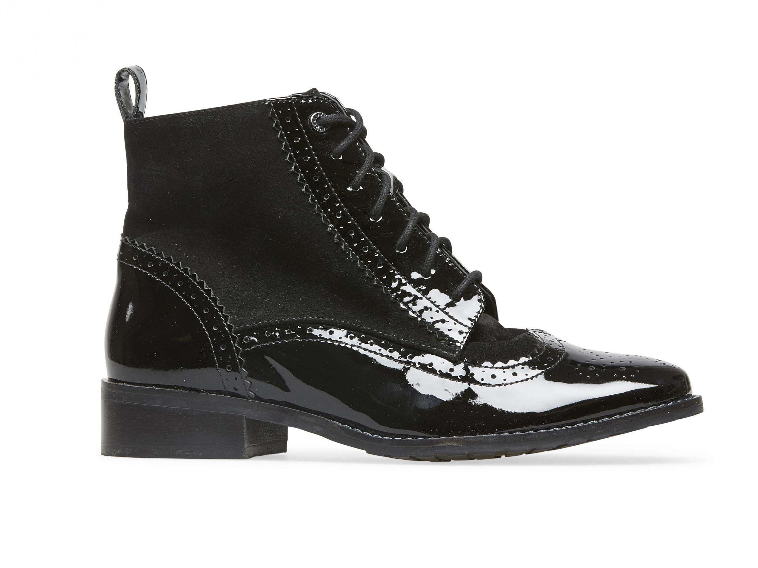 womens black boots wide fit