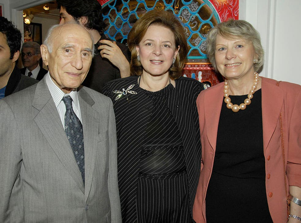 Professor Ehsan Yarshater with colleagues at an event in New York in 2008