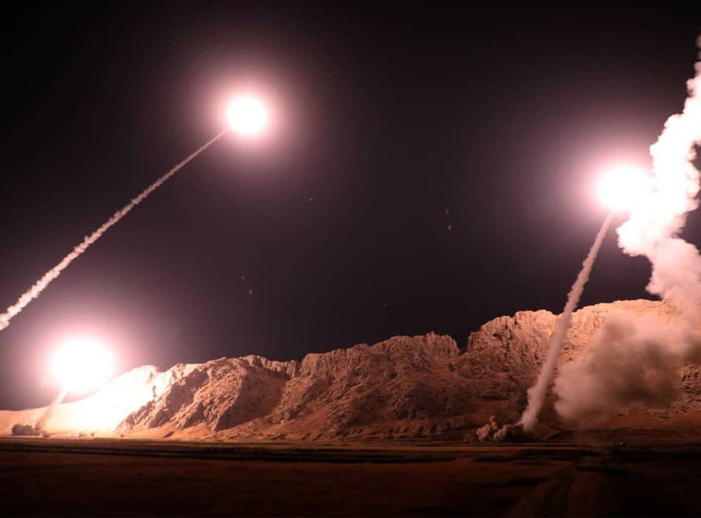 Iran said the missile launch was made in response to an attack on a military parade, which killed more than 25 people