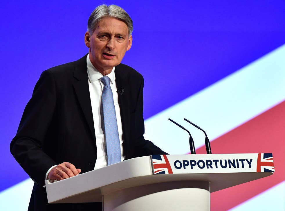 During his speech, Mr Hammond dreamed, almost like John Lennon, about the brighter, sunnier future