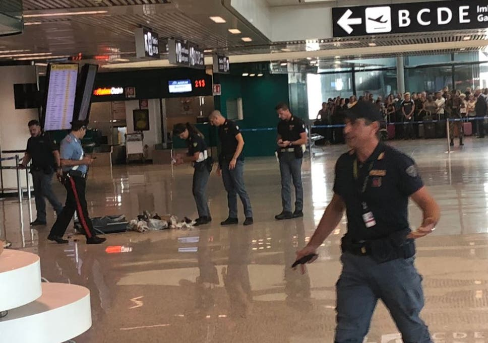 Rome airport police blow up 'suspicious luggage' that turns out to