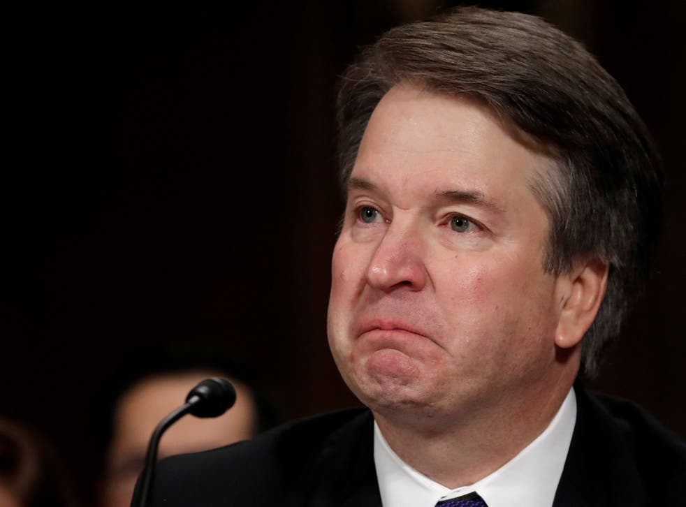 The cartoon was a parody of Kavanaugh's opening statement in which he quoted his daughter to 'pray' for Christine Blasey