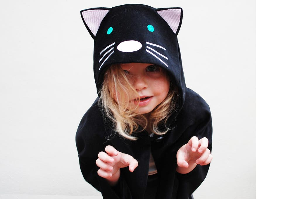 d8a262f5742 This cute cat cape has a hood for chillier temperatures