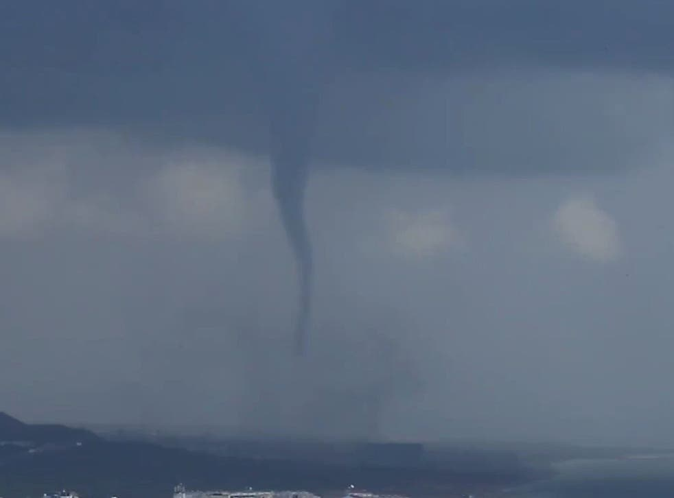 A tornado pictured above Spain in September, 2018