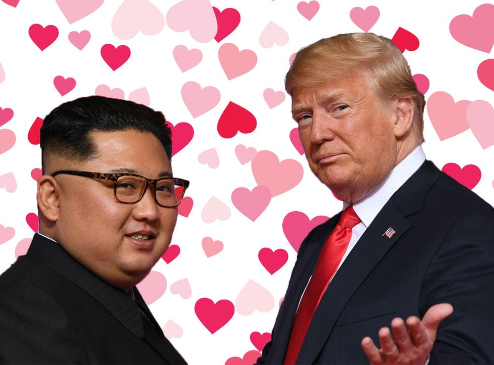 After a rocky start, love appears to have blossomed between the US president and North Korea's Kim Jong-un