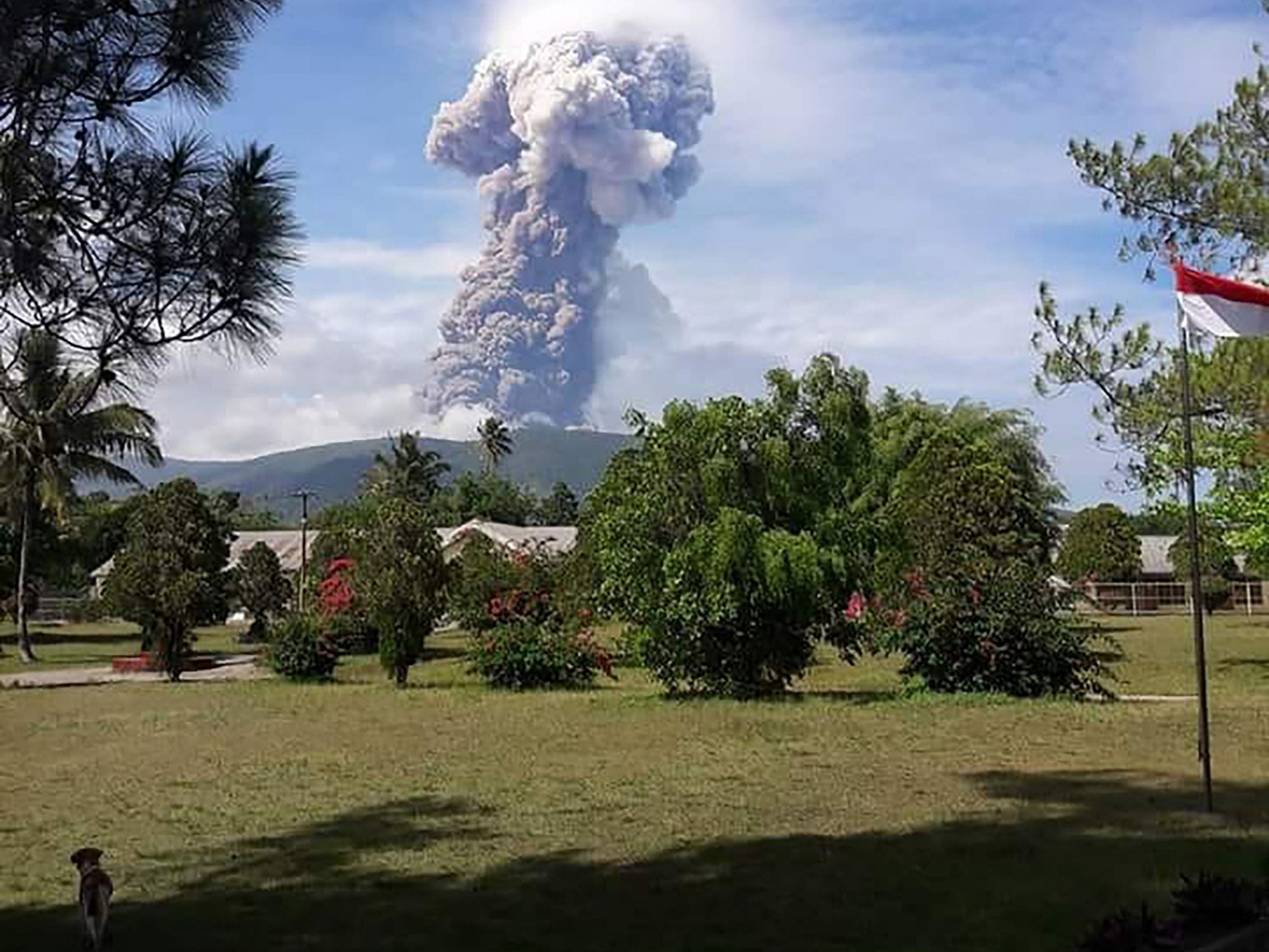 Indonesia volcano erupts on same island as earthquake-stricken city of Palu