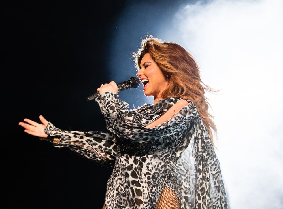 Shania Twain performing live in 2018
