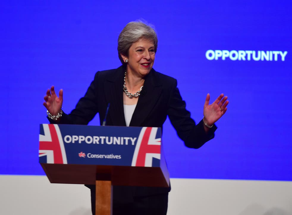 Theresa May pledged last October to end the Conservatives' austerity measures
