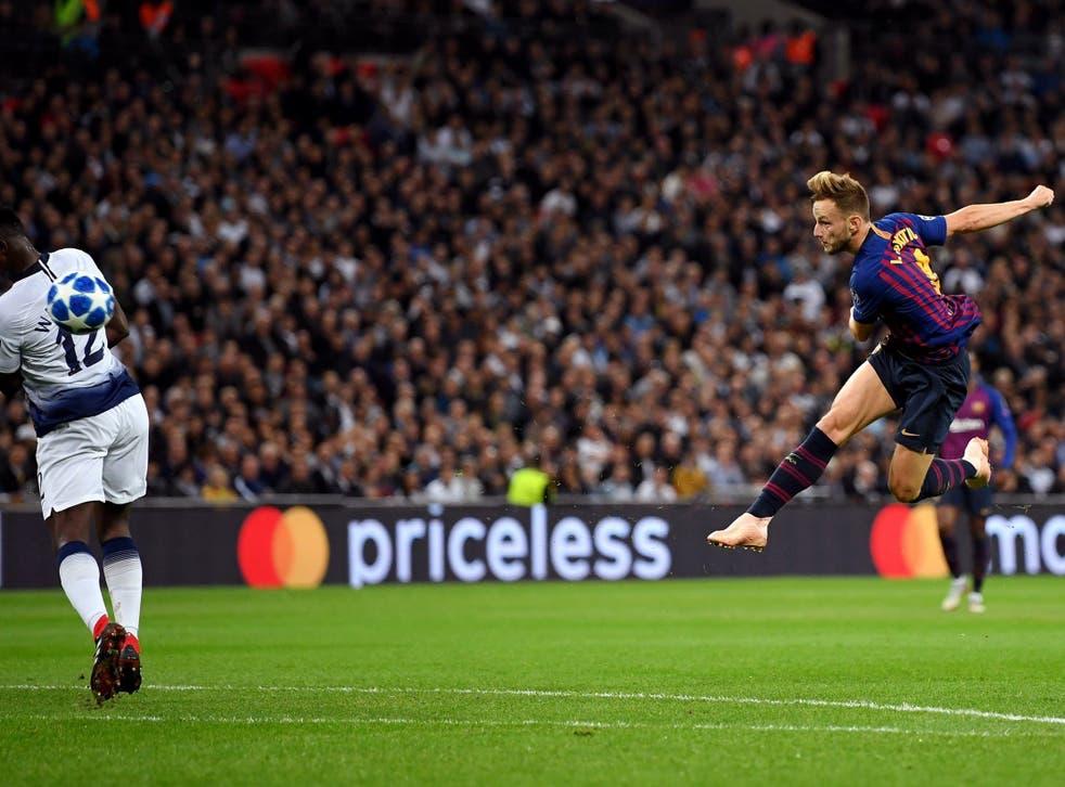 Ivan Rakitic volleys home Barcelona's second goal