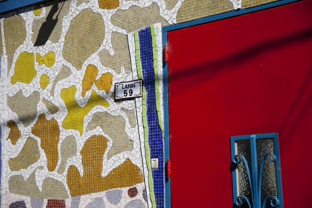 The flamboyantly decorated houses of Calle Lanin, an outdoor art gallery